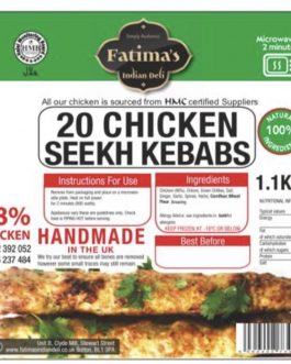Fatimas Indian Deli Chicken Microwave Kebabs
