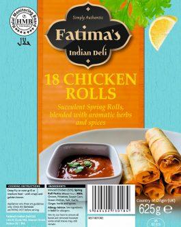 Fatima's Indian Deli Chicken Rolls 18s