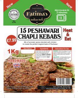 Fatimas Indian Deli Peshwari Chapli Kebabs