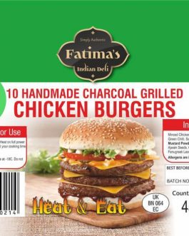 Fatimas Indian Deli Grilled Chicken Burgers (Microwave)