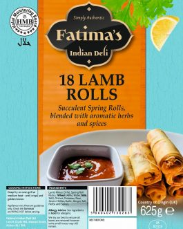 Fatima?s Indian Deli Lamb Springroll?s 18s