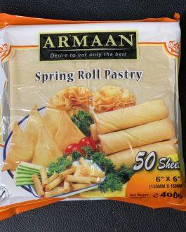 """Armaan 50 Sheet 6"""" Springroll Pastry"""