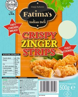 Fatimas Indian Deli Crispy Zinger Strips 500g
