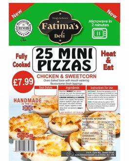 Fatimas India Deli Mini Pizzas 25 Pack