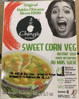 Chings Sweetcorn Veg Soup 4pack