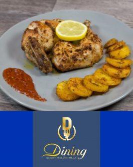 Dining half Peri Peri Chicken ready meal